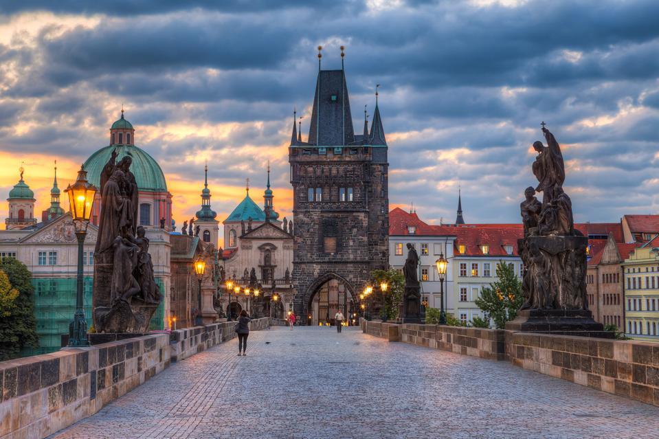 Charles bridge in Prague, the capital of the Czech Republic.