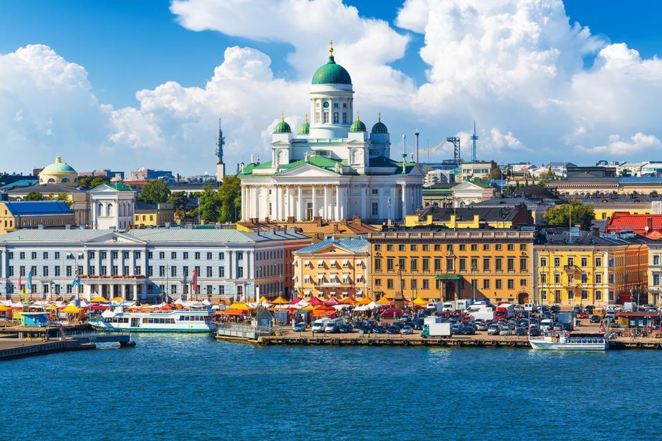 Helsinki, the capital of Finland.