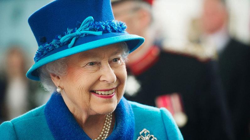 Queen Elizabeth II views the Royal Dockyard Chapel restoration