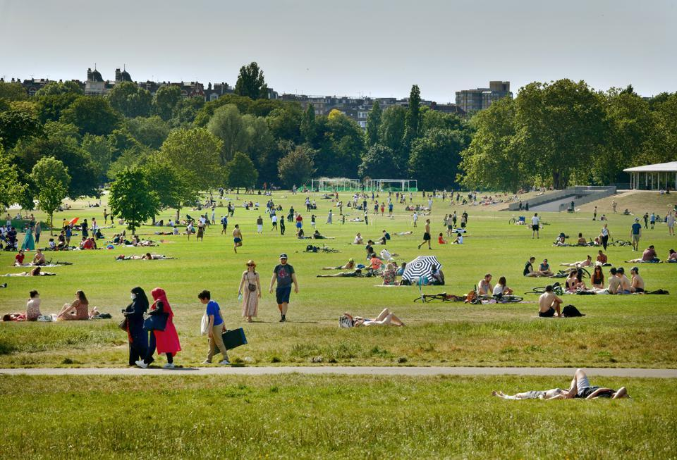 Regents Park on Bank holiday Monday during the Lockdown, London, May 25