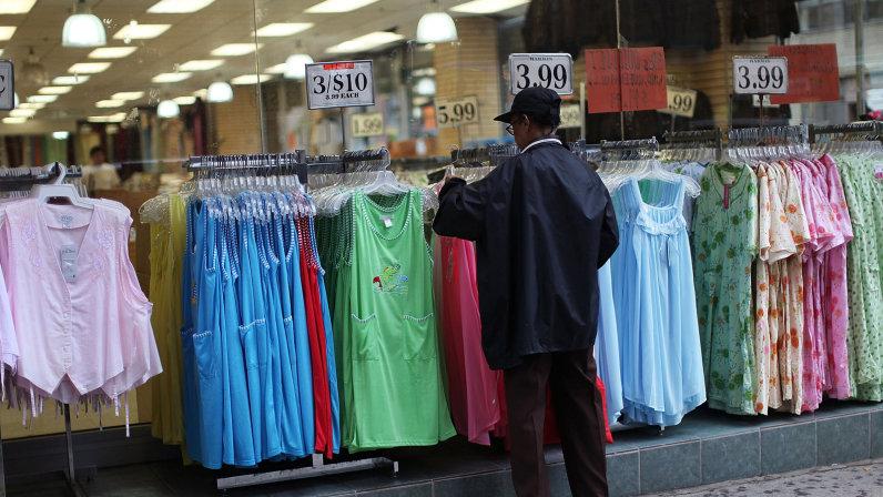 woman shopping at dollar store